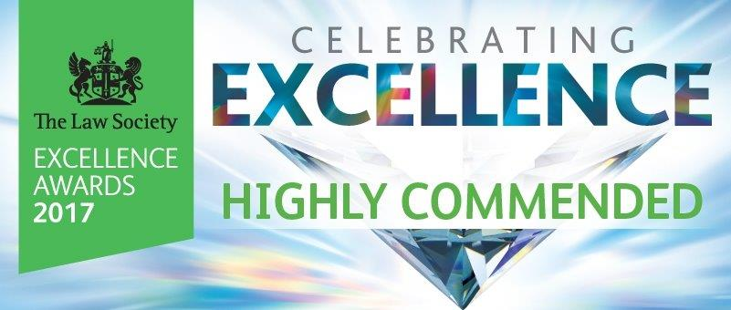 The Law Society Excellence Awards 2017 - Highly Commended